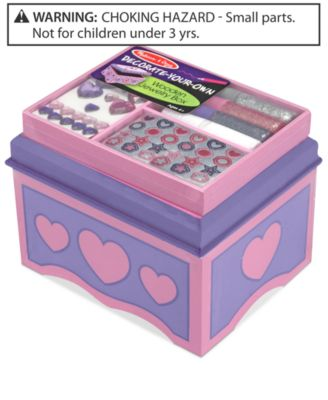 Melissa and Doug Kids Toy DecorateYourOwn Jewelry Box Toys