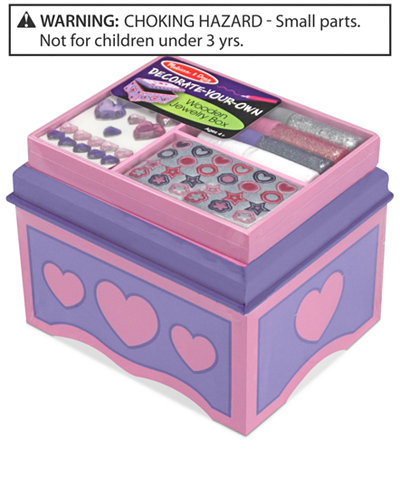Melissa and Doug Kids Toy, Decorate-Your-Own Jewelry Box
