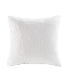 Faux Fur Euro Pillow; Created For Macys