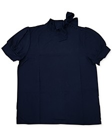 Short-Sleeve Bow-Neck Blouse, Created For Macy's