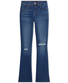 Style & Co Plus Size Destructed Boot-Cut Denim Jeans, Created for Macy's
