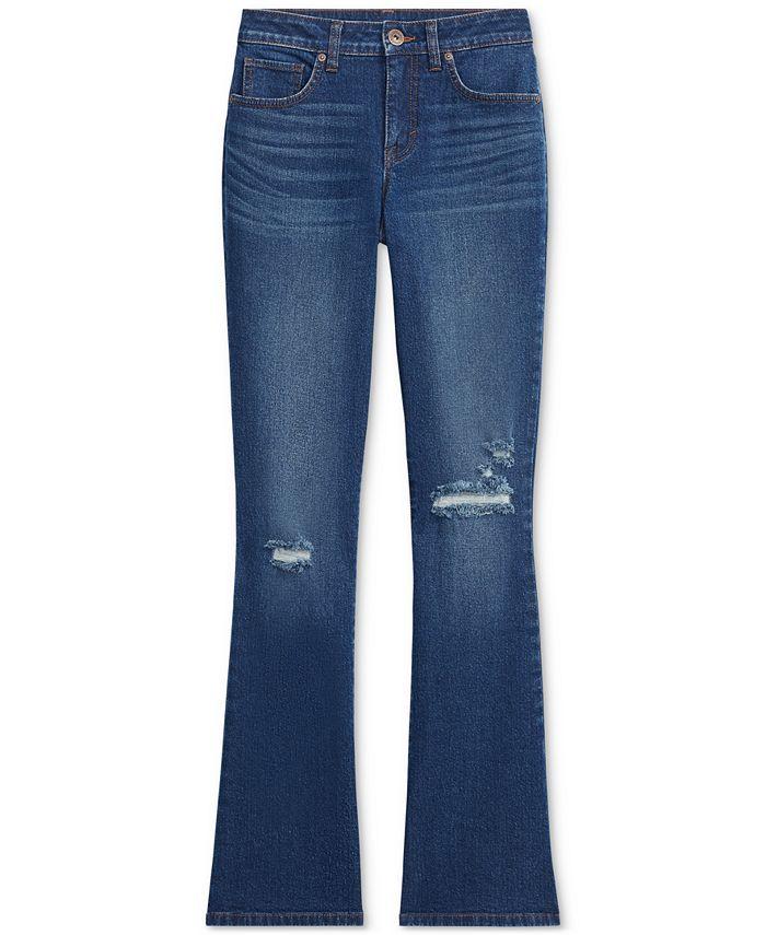 Style & Co - Plus Size Destructed Boot-Cut Denim Jeans