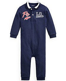 Ralph Lauren Baby Boys Logo Pique Polo Coverall
