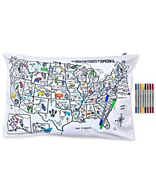 US Map Color in Pillowcase