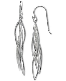 Open Marquise Dangle Drop Earrings in Sterling Silver, Created for Macy's