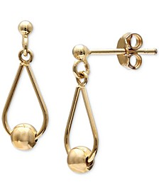 Bead Drop Earrings in 18k Gold-Plated Sterling Silver, Created for Macy's