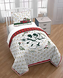 Mickey and Minnie Mouse 3-Pc. Full/Queen Quilt Set