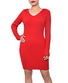 Juniors' Bodycon Sweater Dress