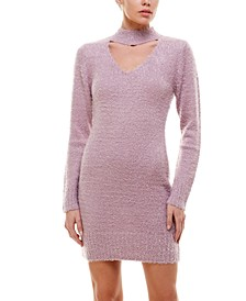 Juniors' Choker Sweater Dress