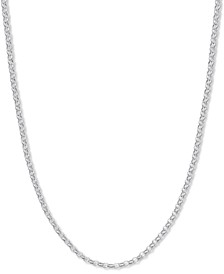 "Rolo Link 18"" Chain Necklace in Sterling Silver, Created for Macy's"