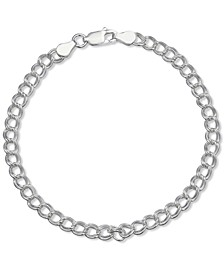 Large Curb Link Bracelet in Sterling Silver, Created for Macy's