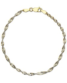 Butterfly Link Chain Bracelet in 18k Gold-Plated Sterling Silver, Created for Macy's