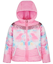 Big Girls Tie Dye Colorblock Jacket