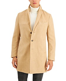 Men's Bruno Solid Topcoat, Created for Macy's