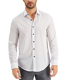 Men's Paisley Grid Pattern Shirt, Created for Macy's