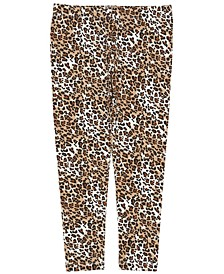 Little Girls All Over Leopard Print Mix and Match Knit Legging
