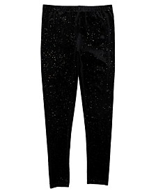 Little Girls All Over Glitter Velvet Textured Legging