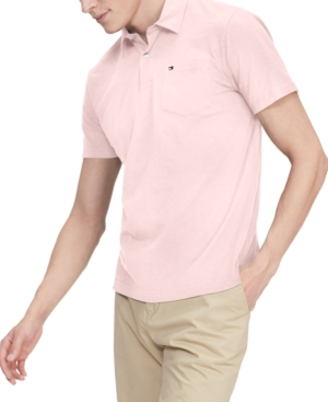 Tommy Hilfiger Men's Nevin Custom-Fit Th Cool Solid Pocket Polo Shirt