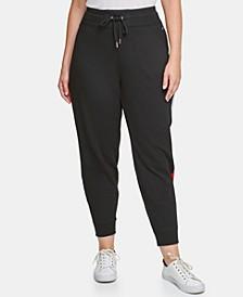 Plus Size Varsity Side-Panel Jogger Sweatpants
