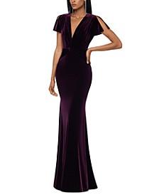 Velvet Twist-Front Gown