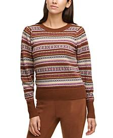 Fair Isle Printed Crewneck Sweater