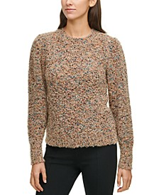 Plus Size Multi-Dot Fuzzy Sweater