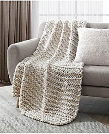 "Chunky Heathered 50"" x 60"" Decorative Throw"