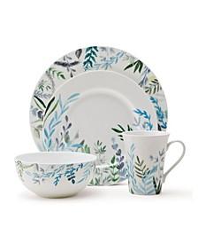 Monet Jardin 16 Piece Dinnerware Set, Service for 4