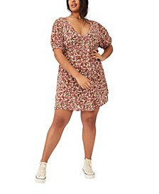 Trendy Plus Size Woven Miranda Mini Tea Dress