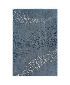 """Liora Manne Carmel School of Fish 7'10"""" x 9'10"""" Area Rug"""