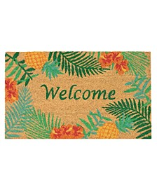 "Natura Tropical Welcome l Neutral 1'6"" x 2'6"" Area Rug"