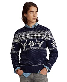 Men's Snowflake Wool-Cashmere Sweater