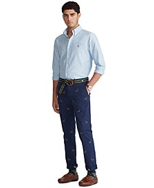 Men's Stretch Straight-Fit Chino Pants