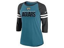 Jacksonville Jaguars Women's Three Quarter Sleeve Raglan Shirt