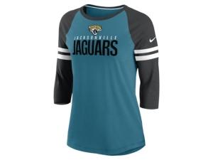 Nike Jacksonville Jaguars Women's Three Quarter Sleeve Raglan Shirt