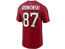 Tampa Bay Buccaneers Men's Pride Name and Number Wordmark 3.0 Player T-shirt Rob Gronkowski