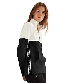 Two-Tone Half-Zip Jacket