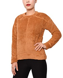 Juniors' Plush Banded-Hem Top
