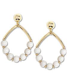 Zenzii Gold-Tone Beaded Open Drop Earrings