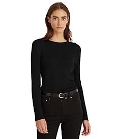 Cable-Knit Crewneck Sweater, Regular & Petite Sizes