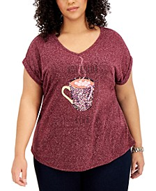 Hot Cocoa Graphic Top, Created for Macy's