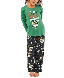 Matching Kids Holiday Baby Yoda Family Pajama Set