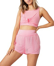 Women's Double Layer Run Short