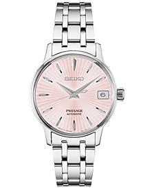 Women's Automatic Presage Stainless Steel Bracelet Watch 33.8MM