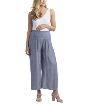 Village Maternity Nom Maternity Corsica Smocked Wide-Leg Maternity Pants