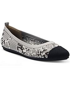 Women's Femillie Cap-Toe Washable Knit Flats