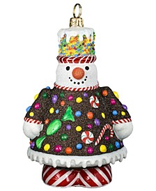 Glitterazzi Gingerbread Snowman Ornament