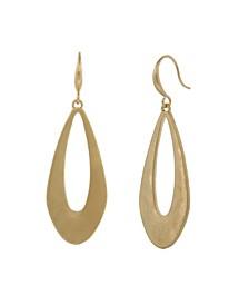 Gold-Tone Open Teardrop Earrings