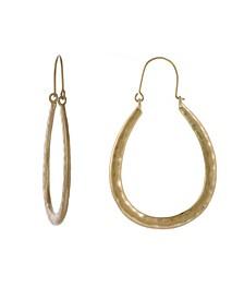Gold-Tone U Shape Hoop Earrings