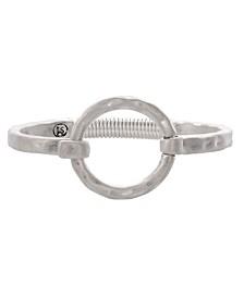 Silver-Tone Ring Hook Bracelet